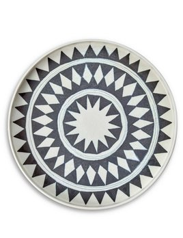 L'Objet L'Objet - Tribal Diamond Round Platter - Medium - 33 D x 4 H cm