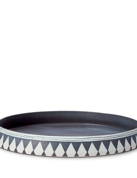L'Objet L'Objet - Tribal Diamond Round Platter - Large - 42 D x 6 H cm