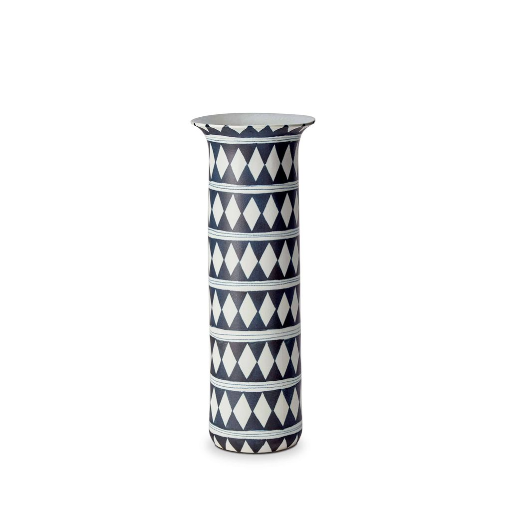 L'Objet L'Objet - Tribal Diamond Vase - Large - 17 D x 45 H cm