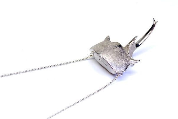 Orner Orner - Sterling Silver Beetlehead Necklace - Made in France