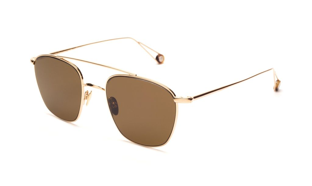 TSG Distribution Ahlem Eyewear - Ecole - Champagne - Palladium Frames Dipped in 3 Microns of Gold