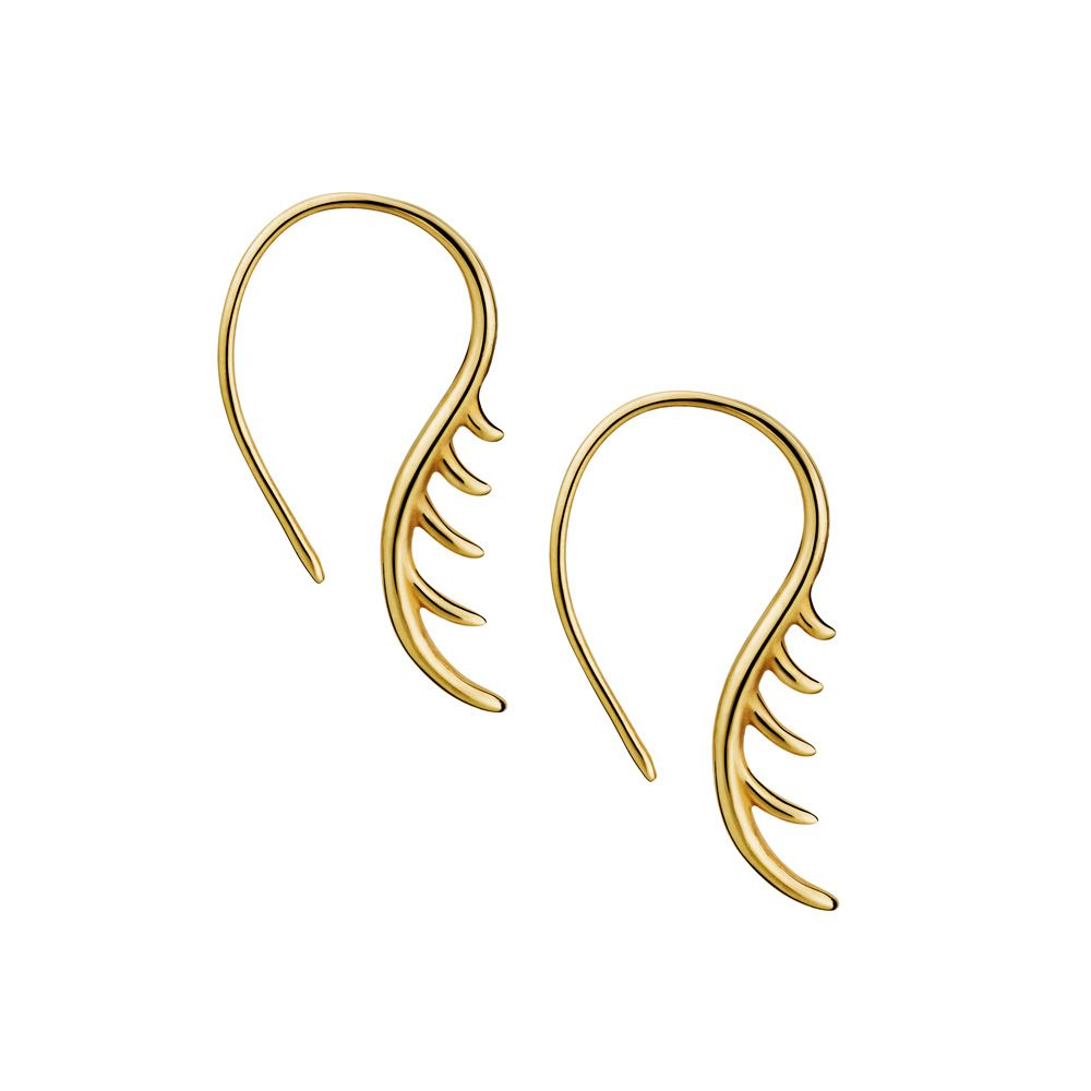 Baby Lashes Curved Earrings by Luke Rose