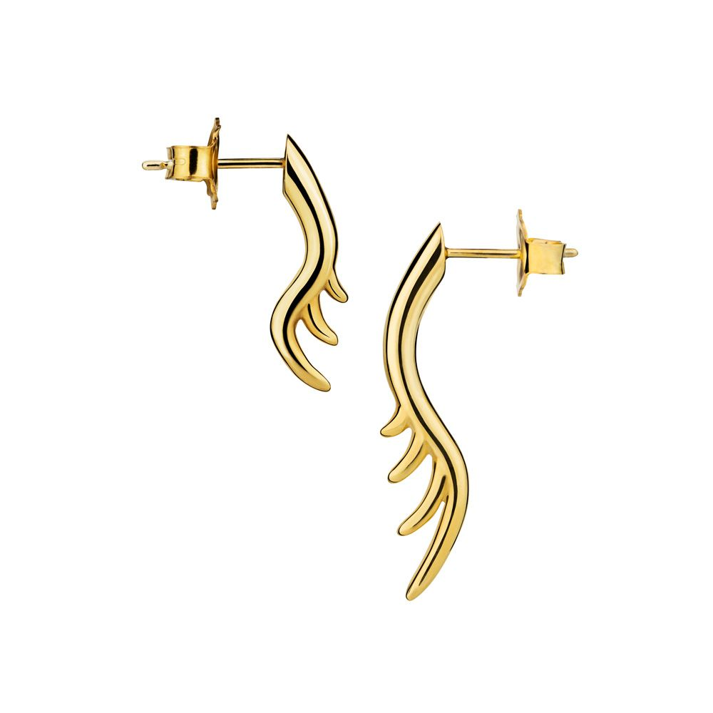 Long Lashes Asymmetric Stud Earring by Luke Rose