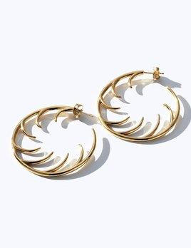 Big Full Lash Hoop Earrings by Luke Rose