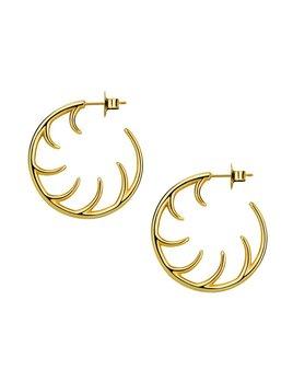 Small Full Lash Hoop Earrings by Luke Rose