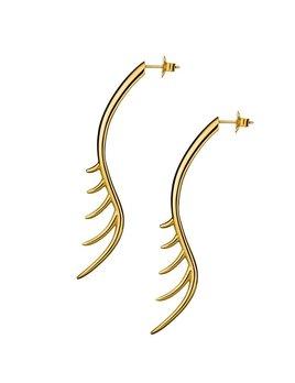 Long Lashes 7cm Bar Drop Earrings by Luke Rose