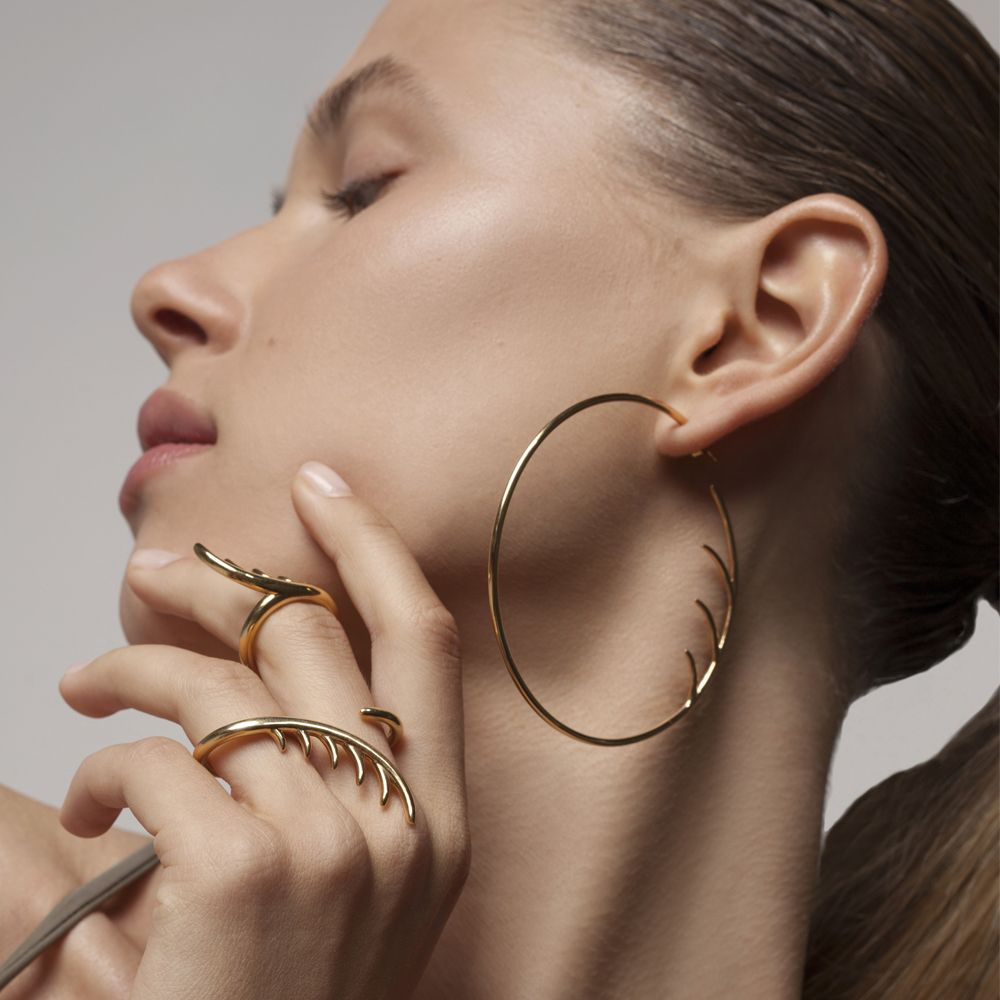 Big Back Lash Hoop Earrings by Luke Rose