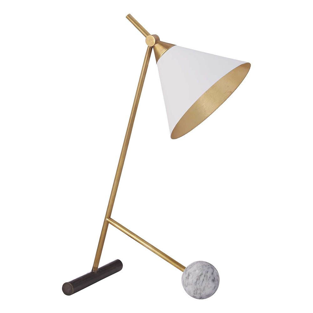Kelly Wearstler Kelly Wearstler - Cleo Table Lamp in Bronze and Antique-Burnished Brass