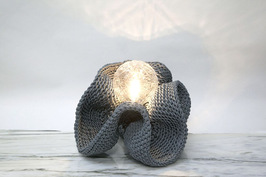 CALYX (2016) Woven Grey Leather Light by 2 by Lyn&Tony - LED Bulb