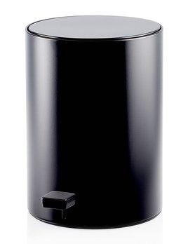 Decor Walther TE 50 Pedal Bin - Round - Waste Bin - chrome, matte white, matte black - H32x20x20cm