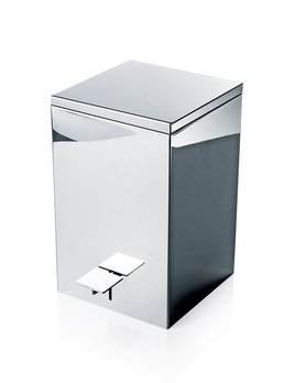Decor Walther TE 70 Pedal Bin - Square - Waste Bin - 20x20xH32cm - Various Surface Finishes Available