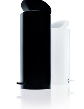 Decor Walther BIN 3 Pedal Bin - Tall Round Waste Bin - Various Finishes Available - D14.5xH33.5cm