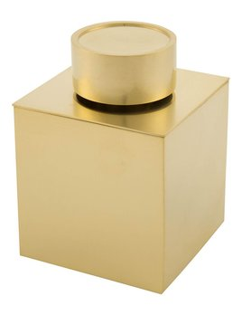 Decor Walther DW - Multi Purpose Box with Lid - Matte Gold - 10 x 8.5 x 8.5cm - Germany