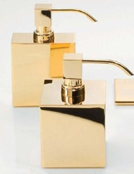 Decor Walther DW - Soap Dispenser - Large Square - Gold - 8x8x14cm - Made in Germany