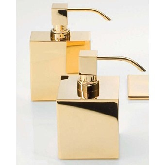 DW - Soap Dispenser - Large Square - Gold - 8x8x14cm - Made in Germany