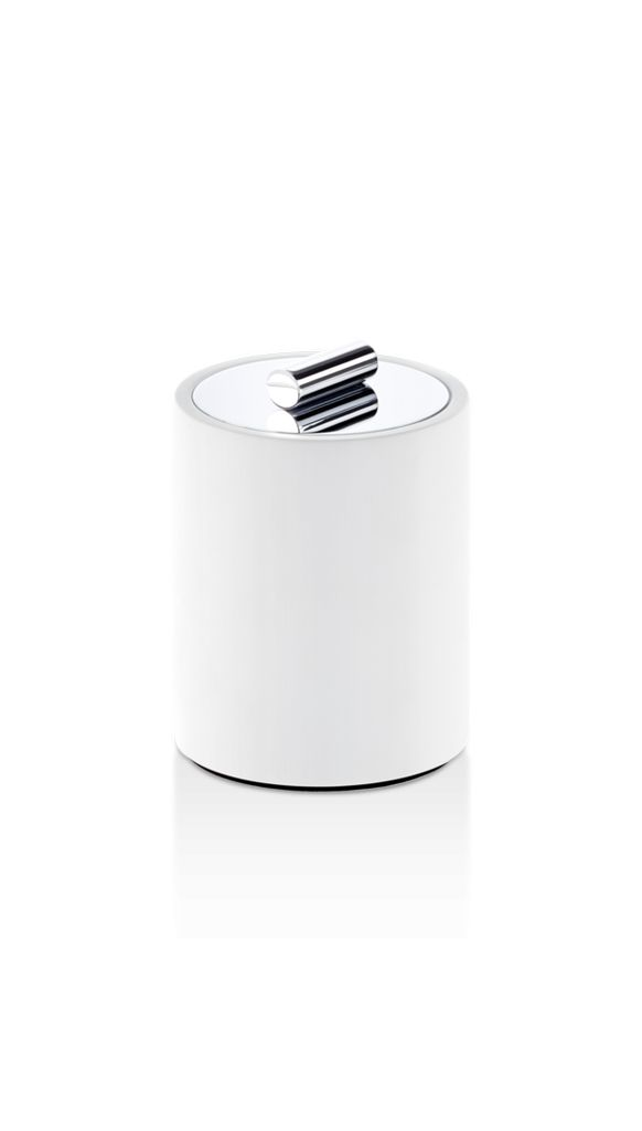 DW - Stone Multi Purpose Box Small - White/Chrome - H11cm - Germany