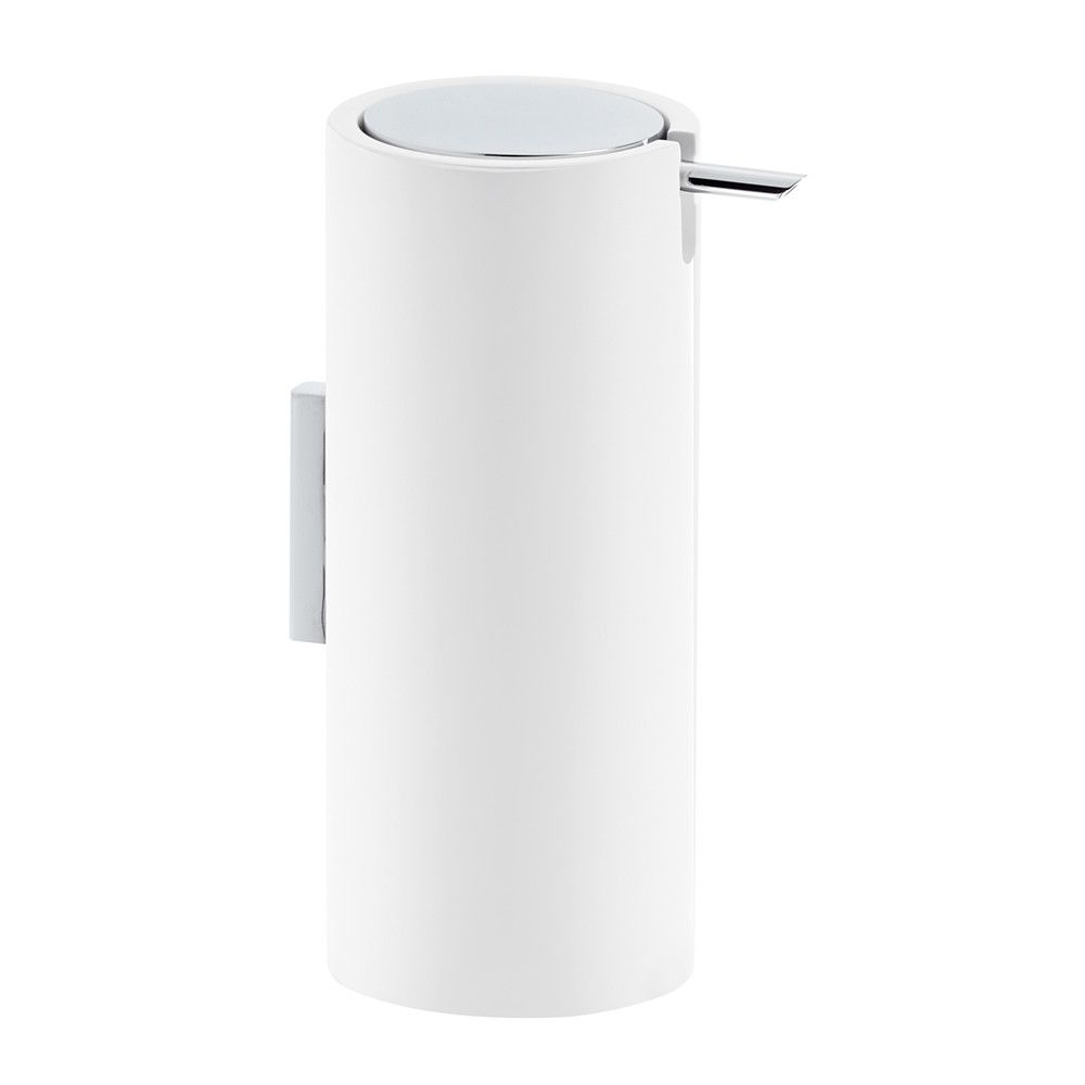 DW - Stone Soap Dispenser - White/Chrome - 17 x 0 x 9.5cm - Germany
