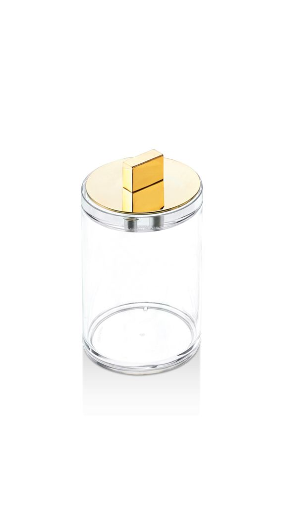Decor Walther DW - Acrylic Box with Gold Lid - Small - H12cm - Germany