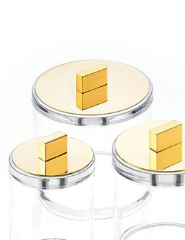 Decor Walther DW - Acrylic Box with Gold Lid - Large - H13cm - Germany