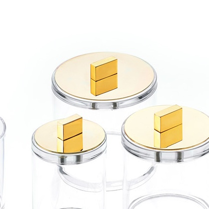 DW - Acrylic Box with Gold Lid - Large - H13cm - Germany