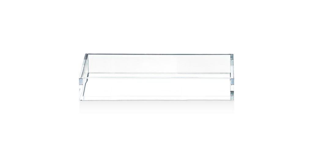 Decor Walther DW - Acrylic Tray - Rectangular <br /> Large - 5 x 35.5 x 16cm - Germany