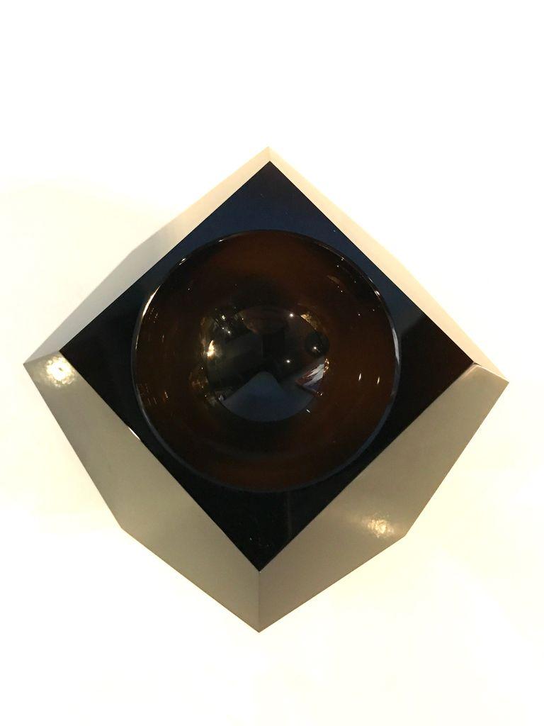 BECKER MINTY BECKER MINTY - Crystal Glass  Mini Faceted Bowl - Dark Topaz