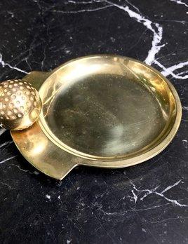 B.M.V.A. Vintage Brass Golf Ball Coin Tray - D15cm