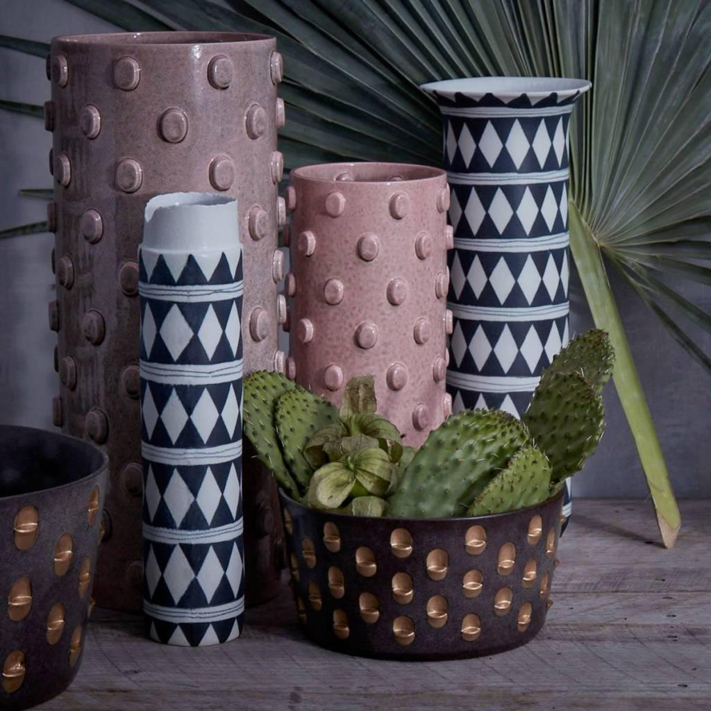 L'Objet L'Objet - Teo Vase - Large - Pink - 17 D x 37 H cm