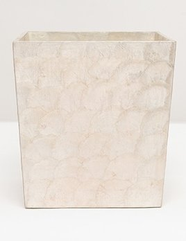 "Andria - Wastebasket Rectangular - Tapered - 10""L x 8""W x 11""H - Pearlized"