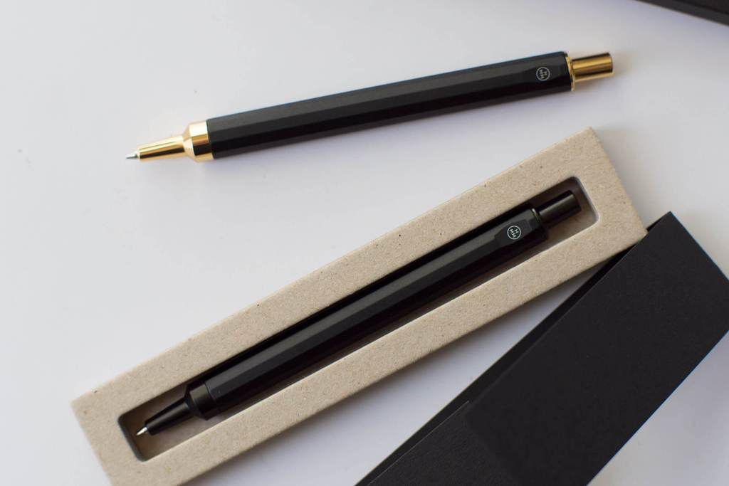 HMM HMM - Black Metal Pencil with Gold Nib