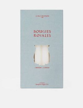 Cire Trudon Royales Taper Candles - Box of 6 - Wht - 28cm