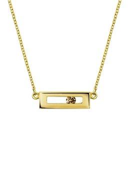 Champagne Diamond Slide Necklace by Luke Rose