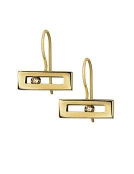 Champagne Diamond Slide Earrings by Luke Rose