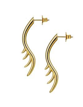 Long Lashes 4cm Bar Drop Earrings by Luke Rose