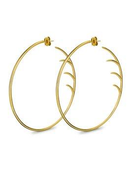 Big Back Lash Hoop Earrings by Luke Rose