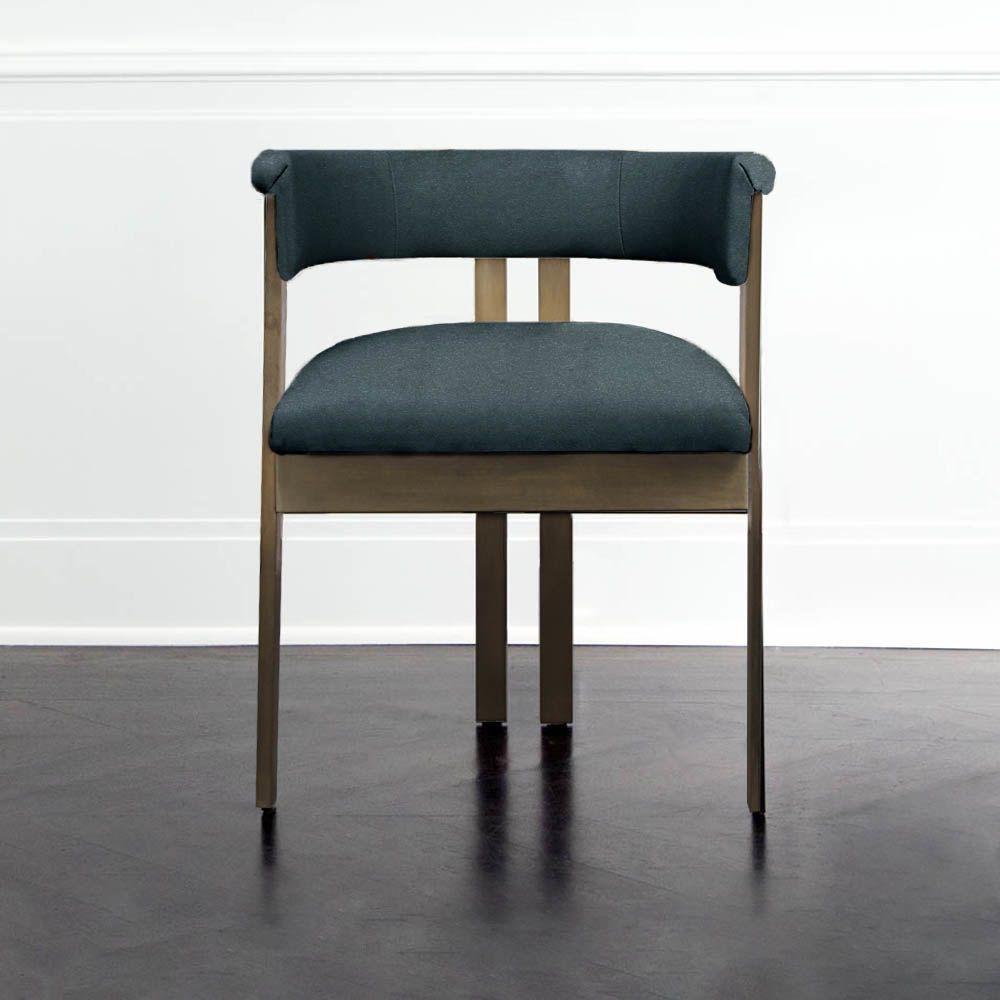 Kelly Wearstler Kelly Wearstler - Elliot Chair - Burnished Brass - Lagoon Leather