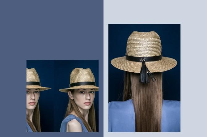 BLANC BLANC - Floppy Straw Hat with Tassle - Size 58 - Black