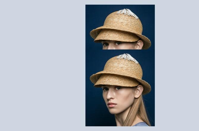 BLANC BLANC - Straw Hat with Top Tassle - Size 56 - Black