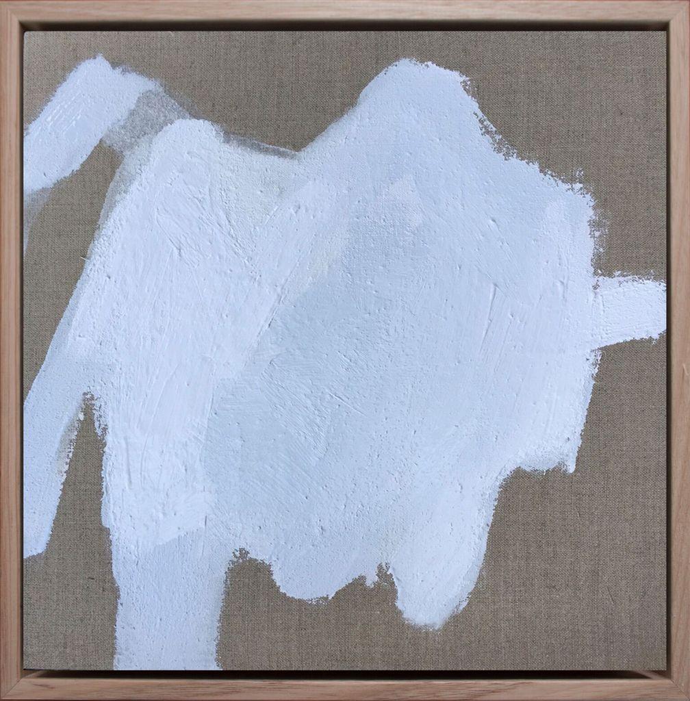 From the Body #20 - Acrylic on Linen - Antonia Mrljak - 38.5x38.5cm (framed) - 2017