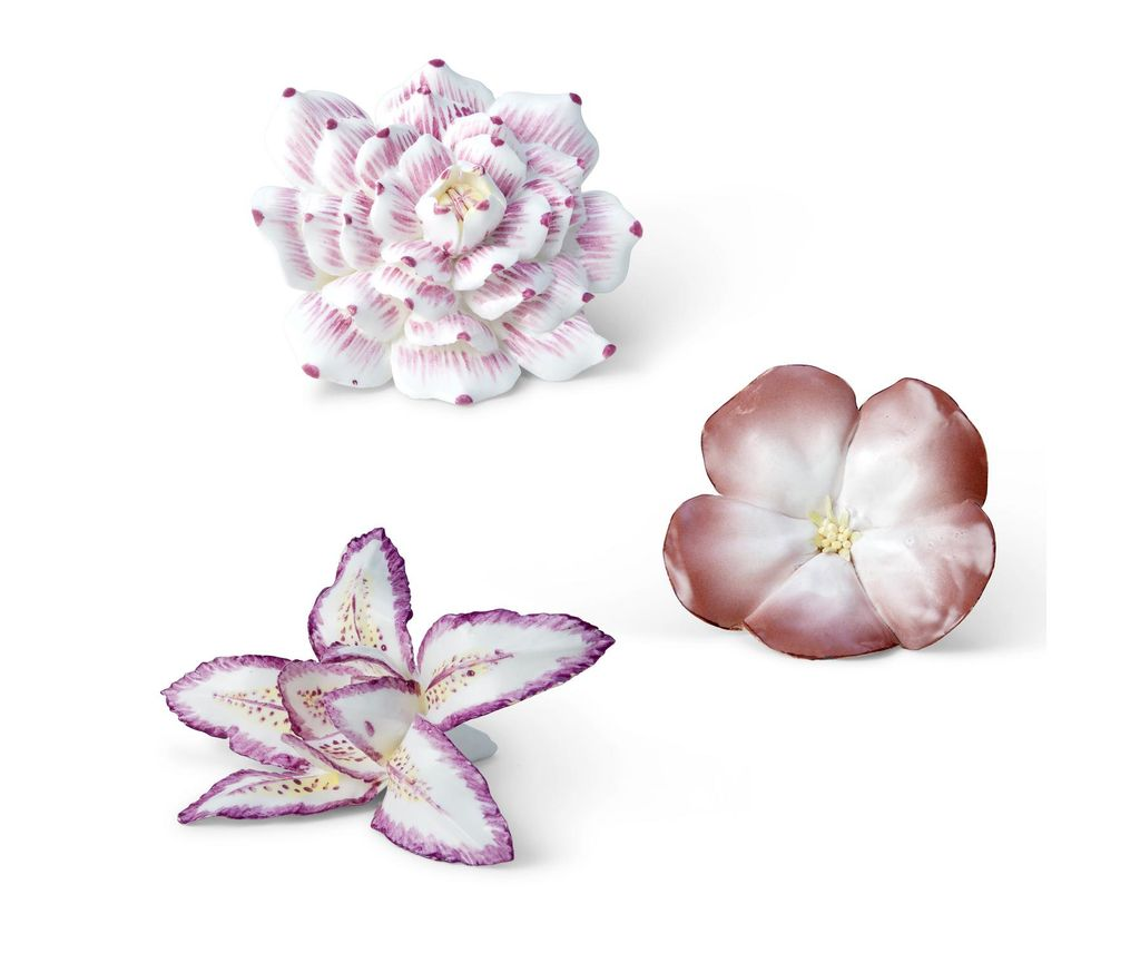 AERIN - Giverny Flowers - Ceramic - set of 3