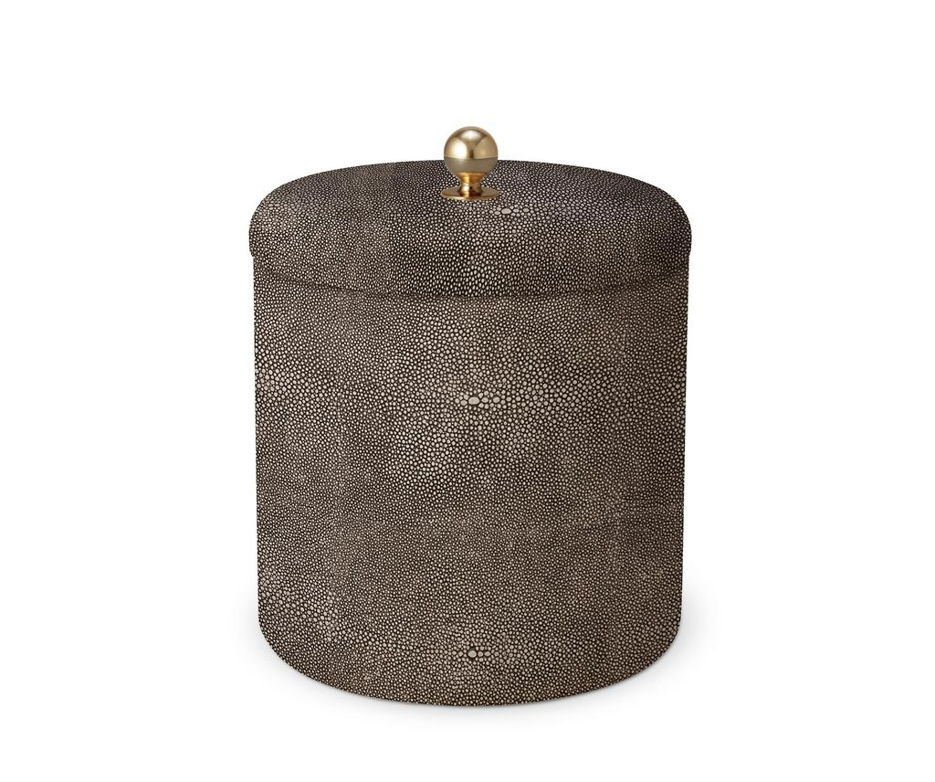 AERIN - Chocolate Shagreen Ice Bucket