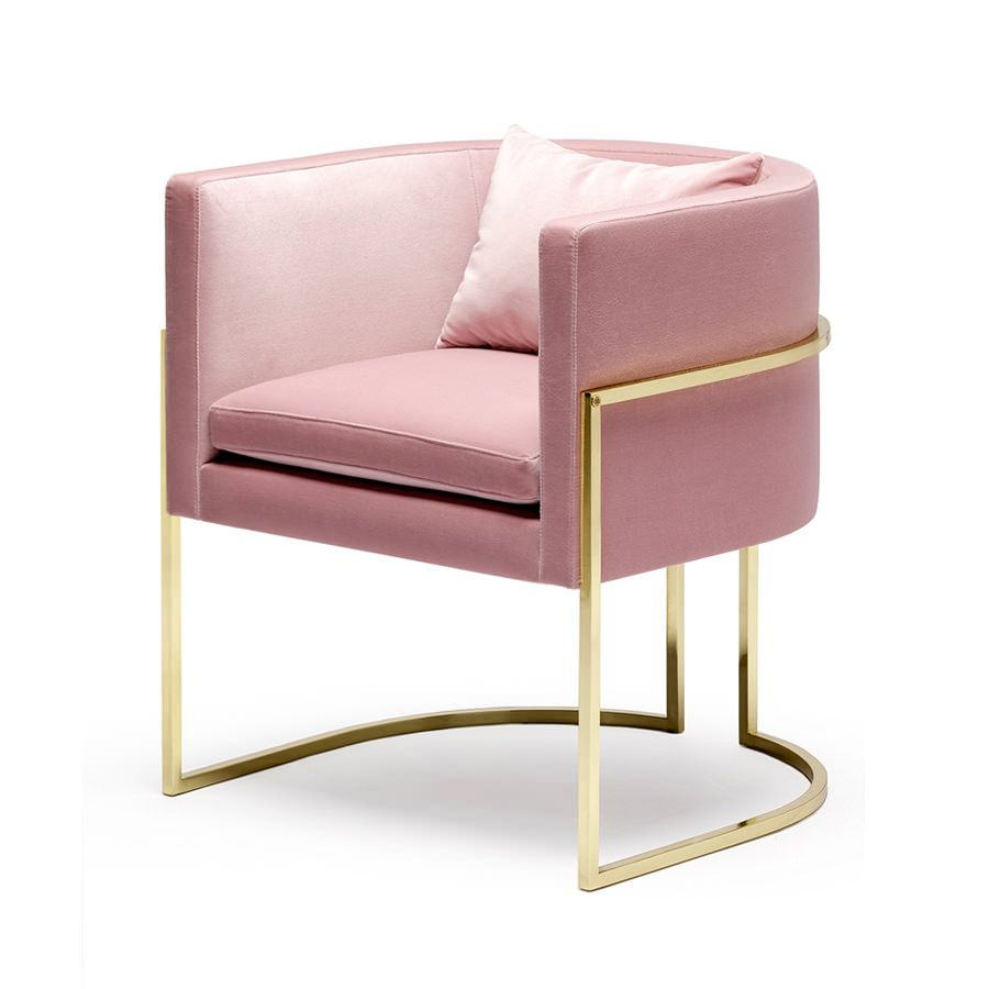 Pink Dining Chairs Gold Legs