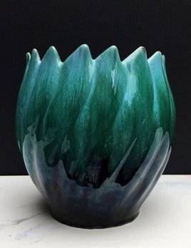 BECKER MINTY Vintage Green Ceramic Planter - BMP Canada