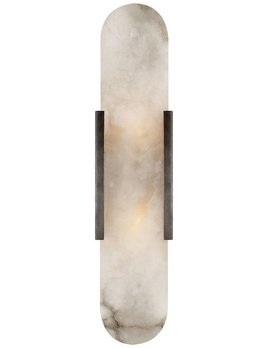 Kelly Wearstler Kelly Wearstler - Melange Elongated Sconce in Bronze with Alabaster
