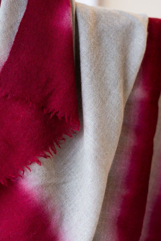 Bloom and Give Cloud Scarf - Wine Cashmere