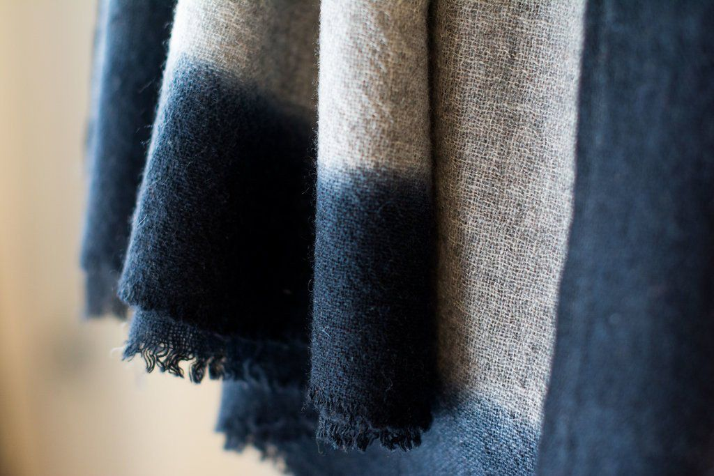 Bloom and Give Cloud Scarf - Grey Cashmere