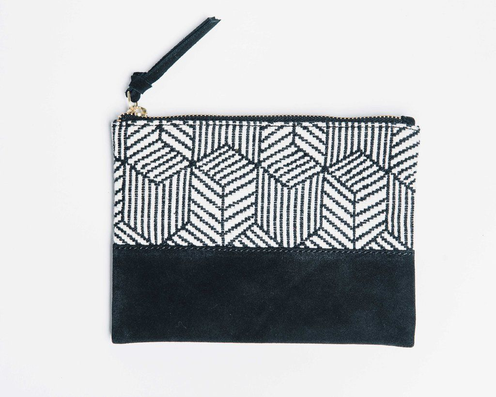 Bloom and Give Kina Cosmetic Bag - Black and White