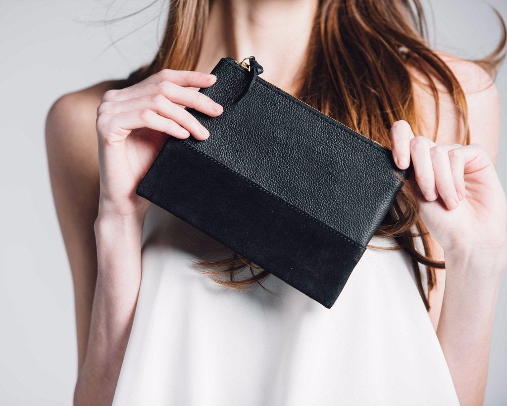 Bloom and Give Marigold Cosmetic Bag - Black