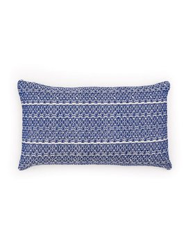 Aniza Aniza Cushion - Royal Blue and Cream - 30x50cm