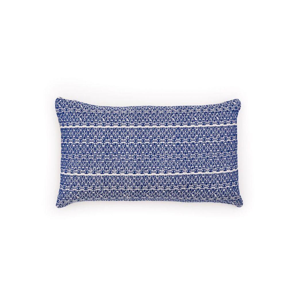 Aniza Aniza Cushion - Royal Blue and Cream - 30x50cm